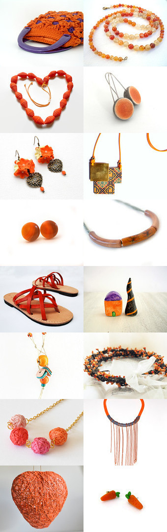 Orange ! by Elena on Etsy--Pinned with TreasuryPin.com