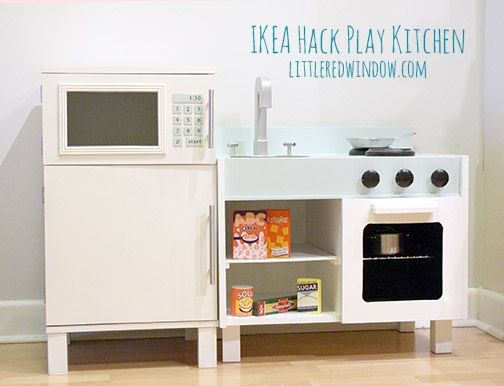Ikea Play Kitchen Set ikea hack play kitchen - fridge and microwave | stove oven, ikea