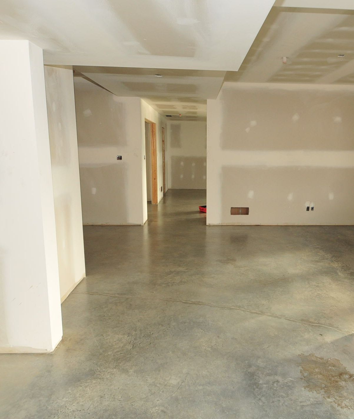 Existing Concrete Basement Floors Look Amazing Naturally A Quick Cost Effective Stunning Concrete Basement Floors Concrete Floors Basement Flooring Options