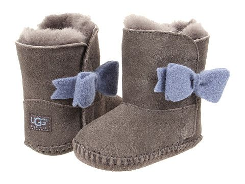 4b734ea57ff UGG Kids Cassie Bow (Infant/Toddler) Grey - Zappos.com Free Shipping ...