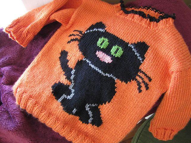 A Clowder of Cat Sweaters pattern by Eileen Casey | Cat ...