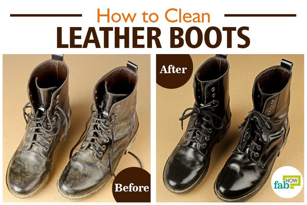 How to Clean Leather Boots StepbyStep with Pictures