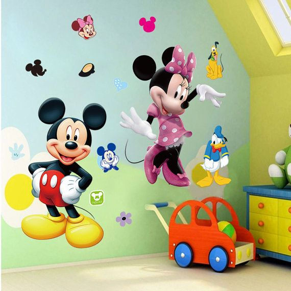 Disney Donald Duck Vinyl Wall Sticker Decal Mural Personalized Name Kids room d2