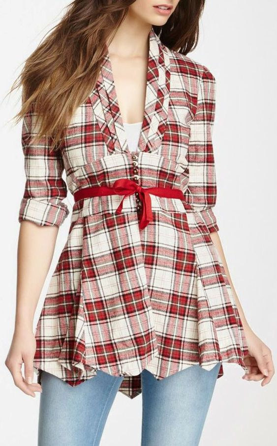 Tantalizing plaid tunic oh if only i had a place to for Places to buy flannel shirts
