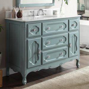 Antique Blue Bathroom Vanity