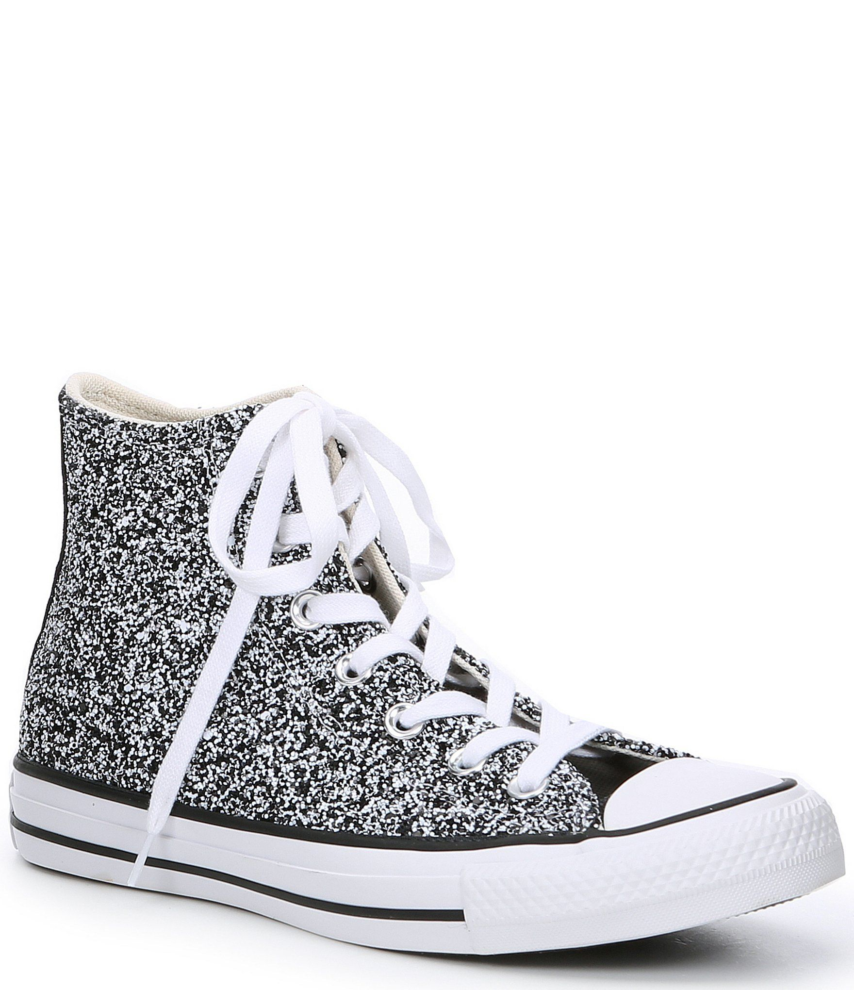 Converse Women's Chuck Taylor All Star Galaxy Dust Glitter High-Top Sneakers - Pink/Silver/White 6M #whiteallstars