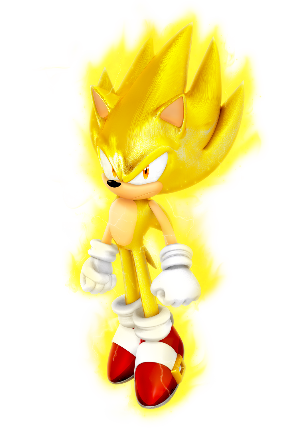 Super Sonic 7k Render By Nibroc Rock On Deviantart Sonic Sonic Birthday Sonic And Shadow