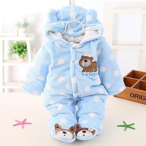 82b2847e2158 Autumn Winter Baby Romper Newborn Clothes Long Sleeve Coverall ...