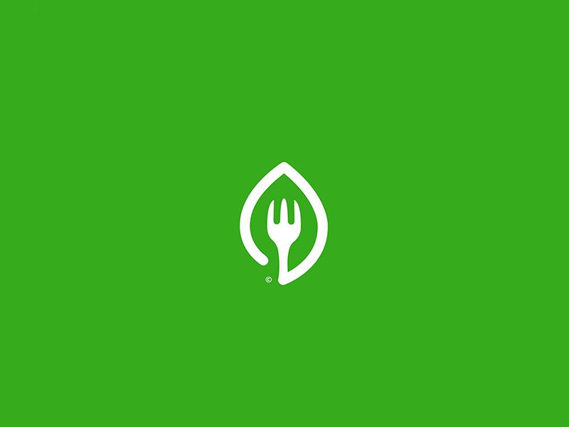 leaf graphic design logo inspiration identidade