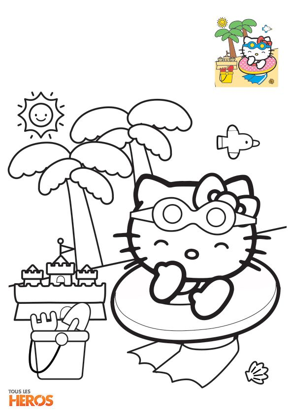 coloriage-Hello-Kitty2.jpg 595×842 pixels | Coloriage hello kitty, Coloriage, Dessin hello kitty