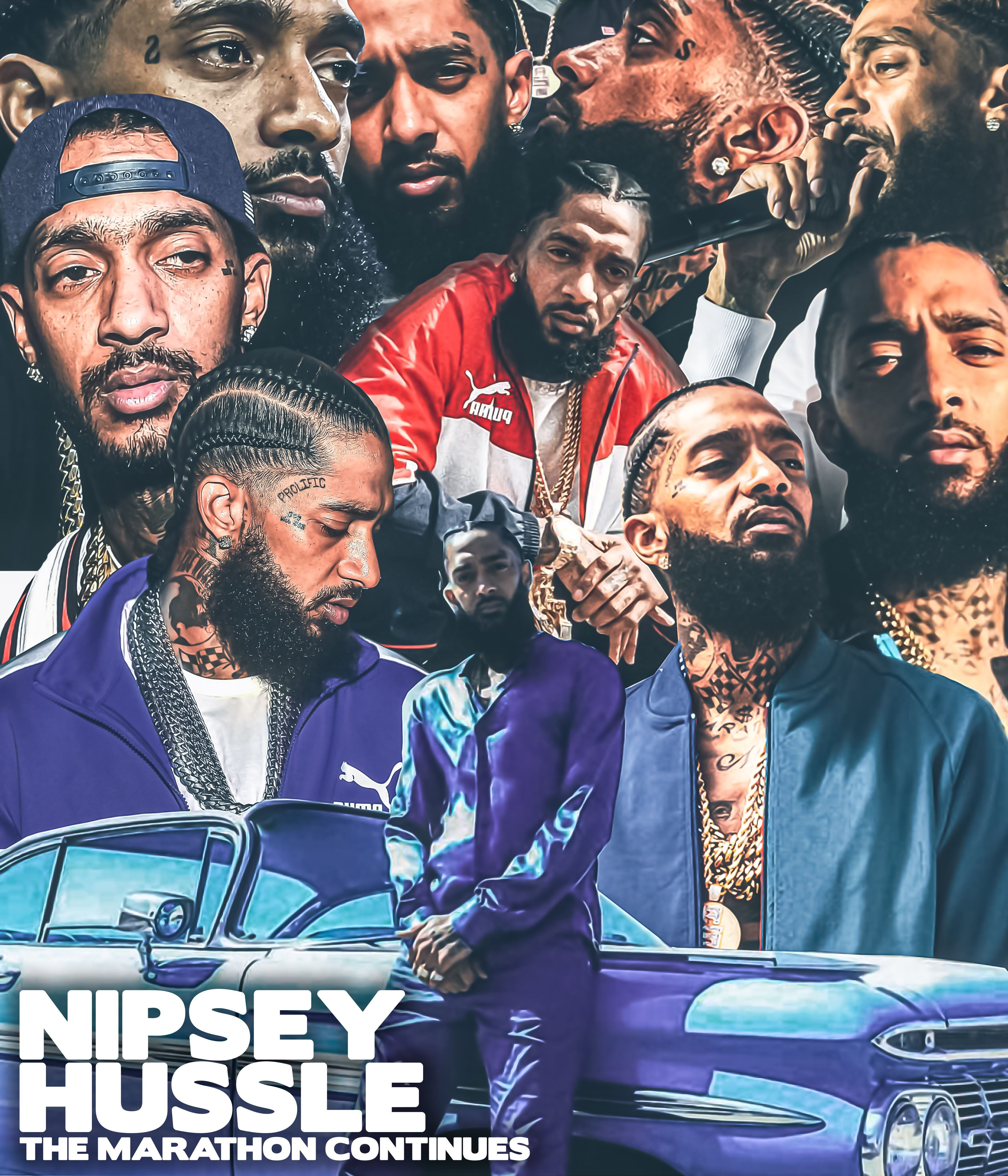 Nipsey Hussle Collage Cover artwork, Freelance graphic