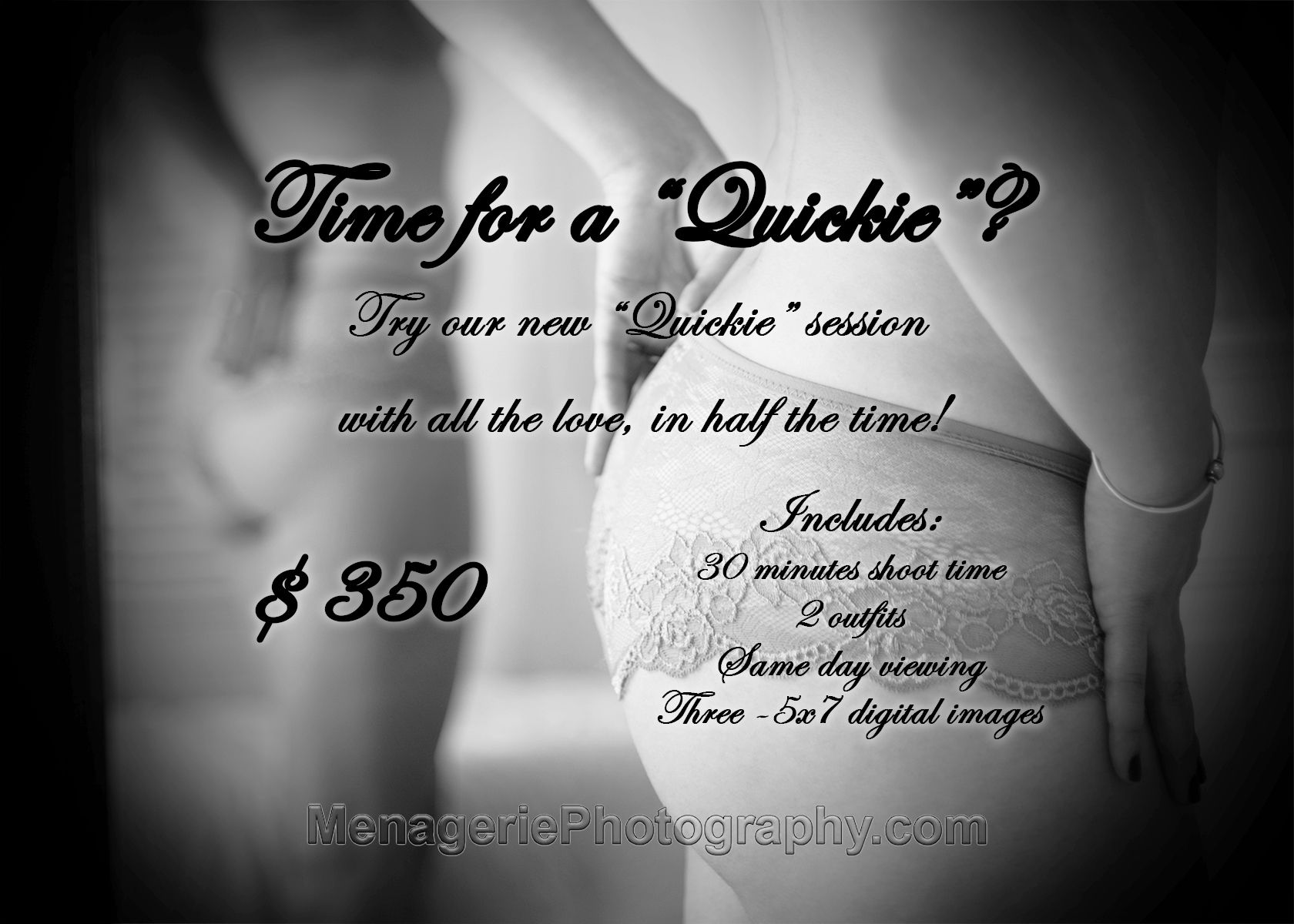 TIME FOR A QUICKIE? A great way to get your feet wet! Our newest ...