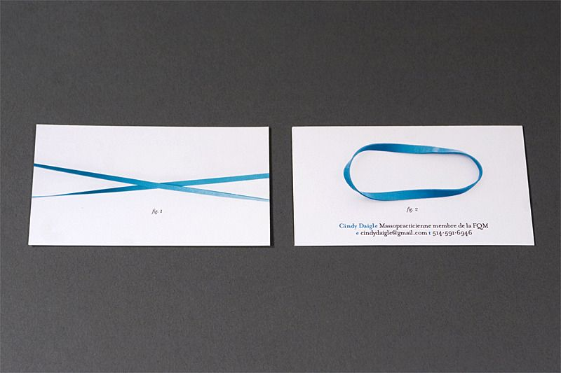 clever massage therapist business card for cindy daigle by louis
