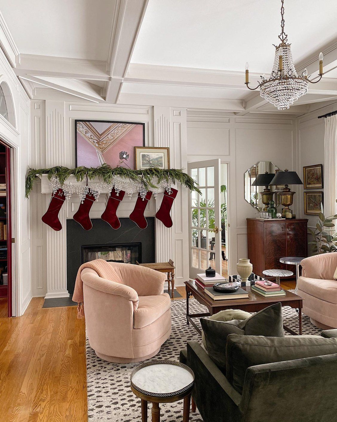 luxury velvet stocking with gold trim christmas on exclusive modern nesting end tables design ideas very functional furnishings id=79945