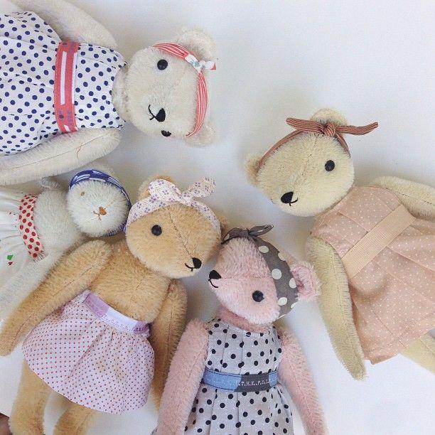 Handmade Teddy Bears by polka dot club
