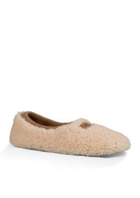 f897c7d10a Ugg Australia Women s Birche Shearling Sock Slipper - White - 6M