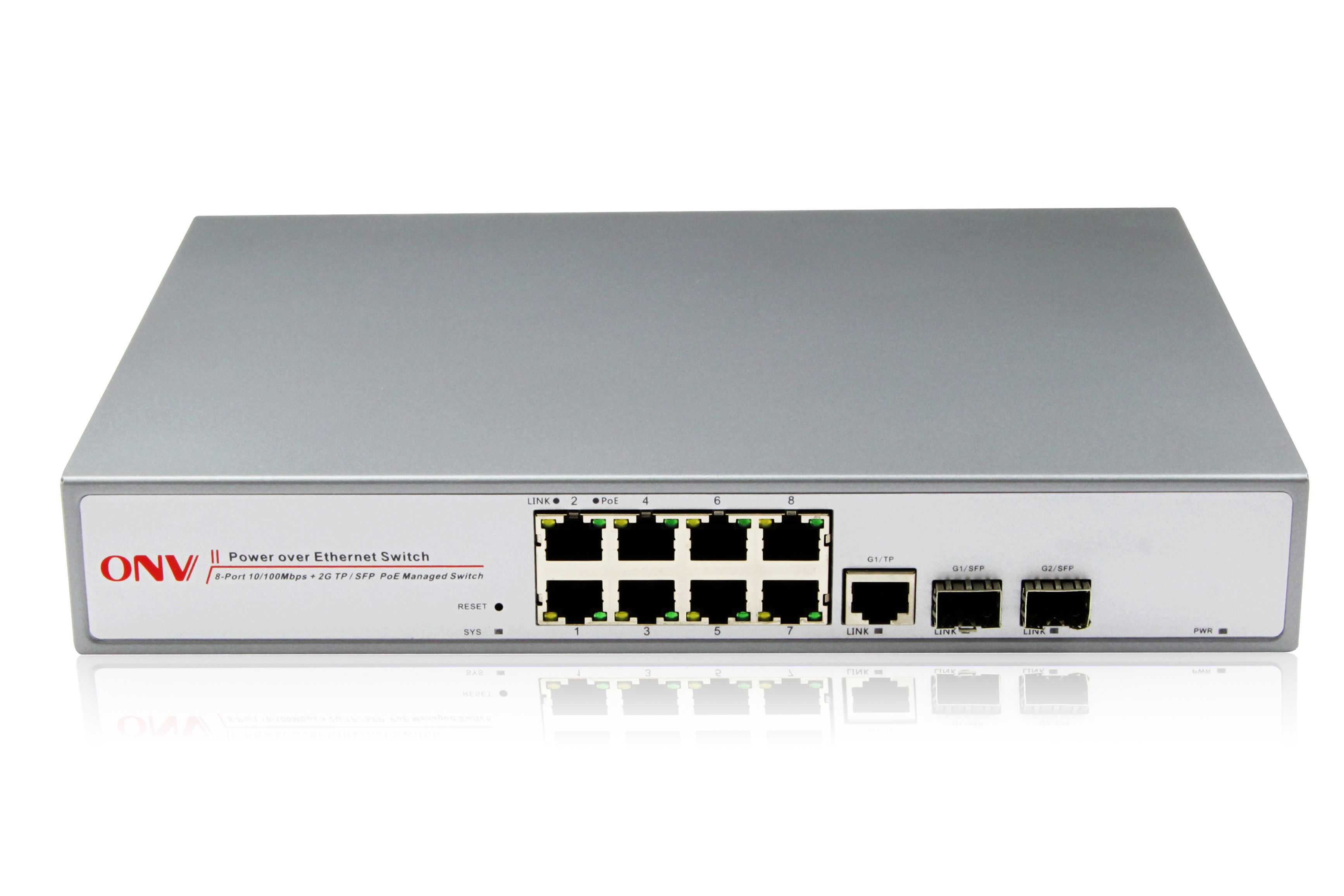 Poe Switch With Eight 10 100m Ports And Two Gigabit Fiber And Electrical Combo Ports Switch Iot Network Switch