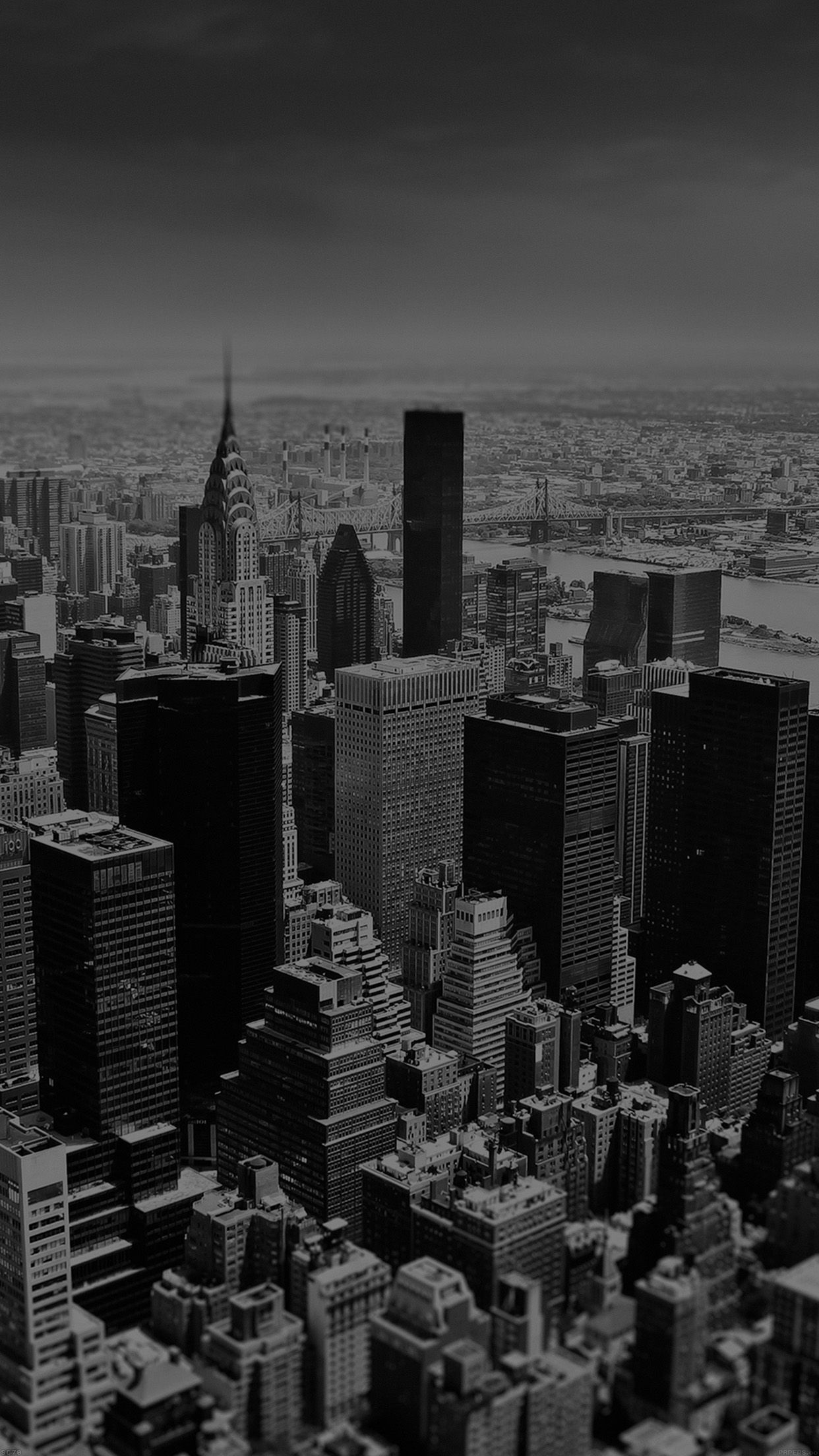 Papersco Mi03 New York Sky Tilt Shift City 34 Iphone6 Plus Wallpaper 1242x2208 Pixels