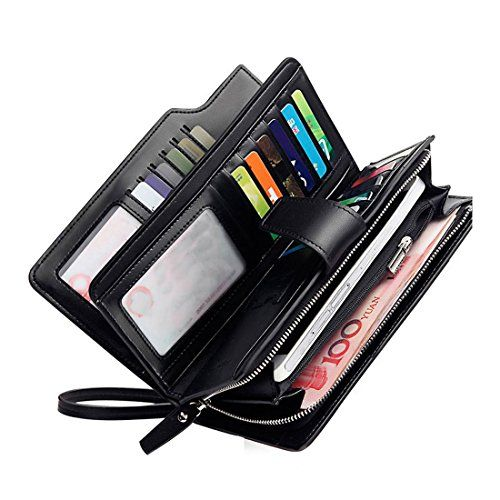 great deals on fashion shop for genuine factory Rfid Women's Wallets Ladies Clutch Leather Wristlet Card ...