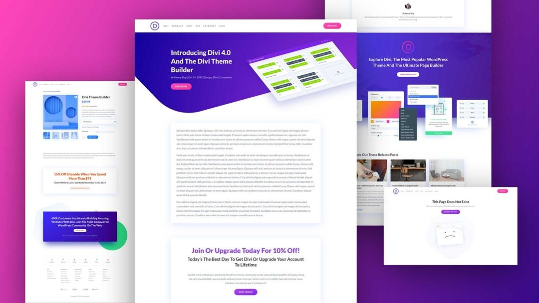 Download The Second Free Theme Builder Pack For Divi Divi Wordpress Themes Wordpress Theme Web Design