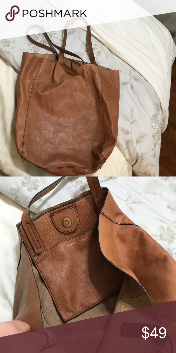 9e0236f35a Banana Republic leather tote bag Big bag! Super soft flexible leather. Nice  leather smell