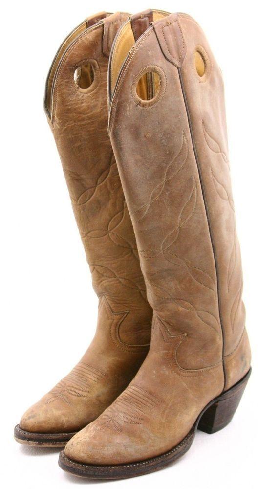c7d7c21ba9c Tony Lama Cowboy Boots womens ladies Size 5.5 B Buckaroo 18