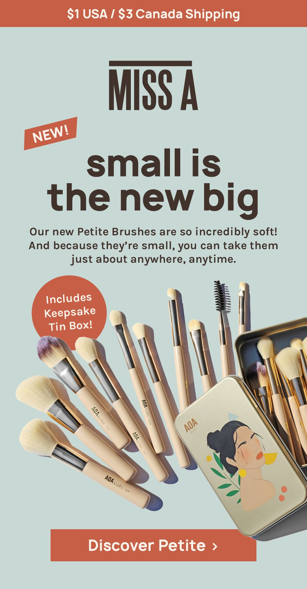 AOA Petite Brush Set + Keepsake Tin in 2020 Affordable
