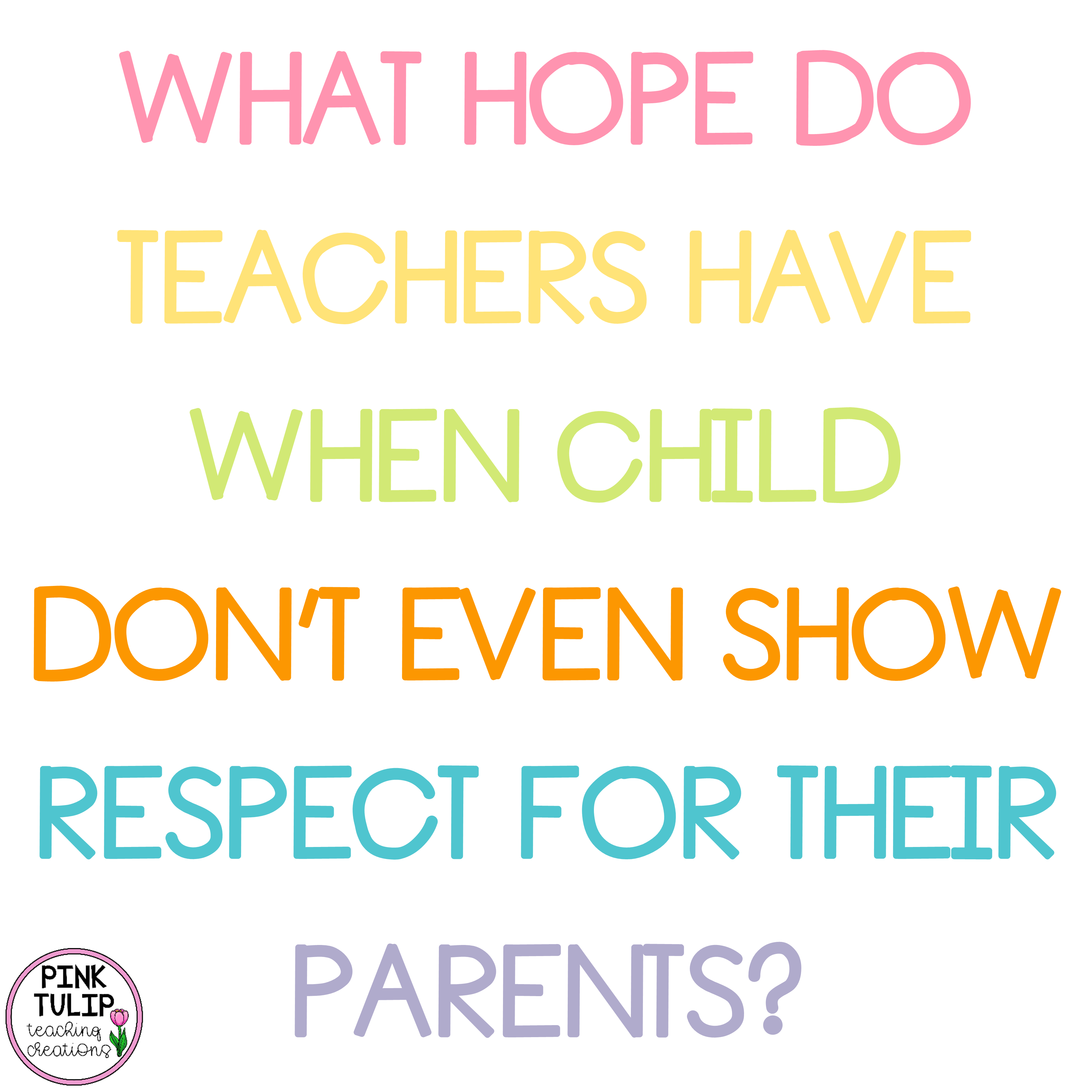 What Hope Do Teachers Have When A Child Doesn T Show
