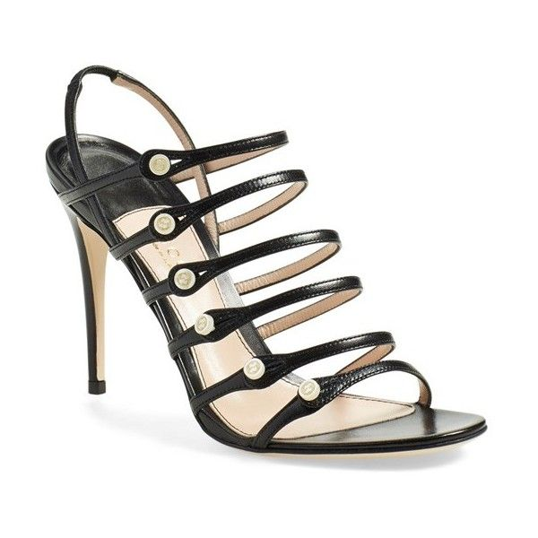 52de177b40dc1 Gucci  Aneta  Caged Sandal ( 995) ❤ liked on Polyvore featuring shoes,