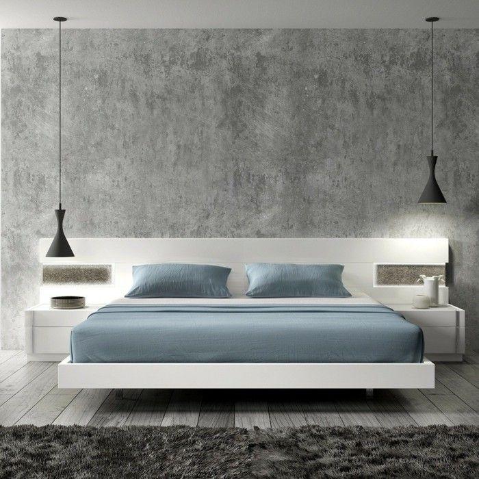 schlafzimmer einrichten modern gemütlich hängelampen