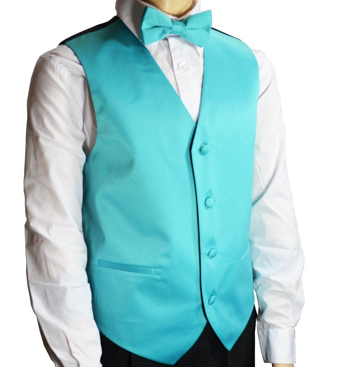 Solid Tiffany Blue Boys Tuxedo Vest Set | Products