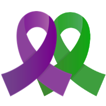 Purple And Green1 Png 211 211 Awareness Ribbons Traumatic Brain Injury Quotes Mild Cerebral Palsy