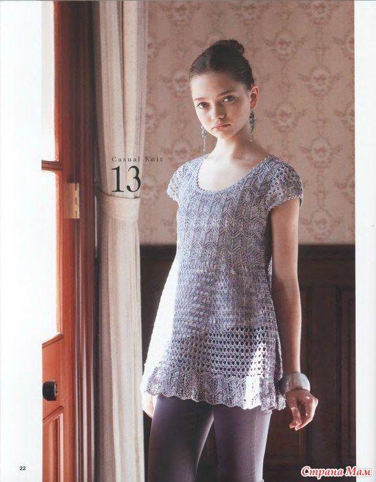 туника для беременных и не только Crochet And Knit 2017 Tunic