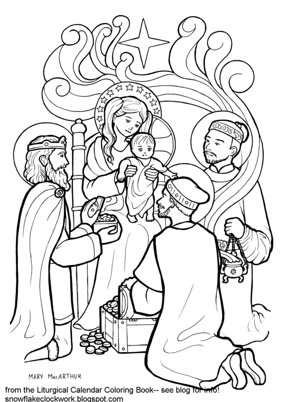 free epiphany coloring pages - photo#7