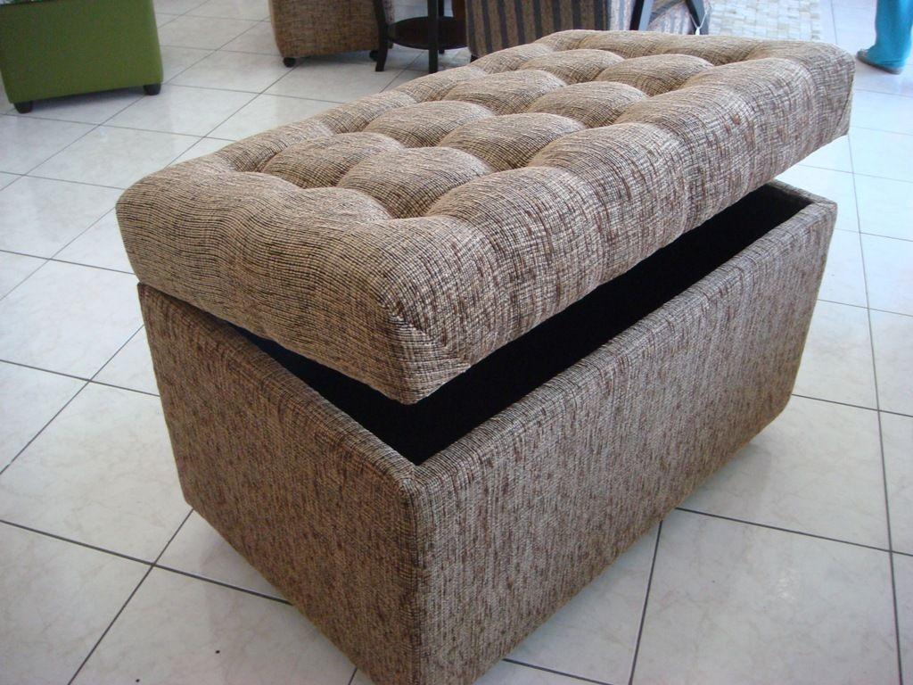 5 Modelos De Puff Ba Pre Os Onde Encontrar Puff Bau E  ~ Sofa Divã Para Quarto Com Quarto Forrado Com Pvc