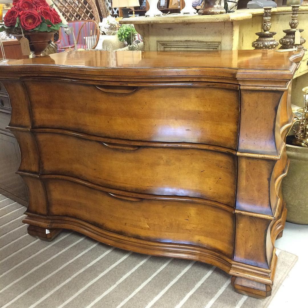 #century #wood #3drawer #dresser #chest #decadent #furniture  #thewanderingeyeconsignment
