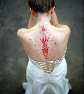 Woman Back Red Tattoo Tattoomagz Com Tattoo Designs Ink