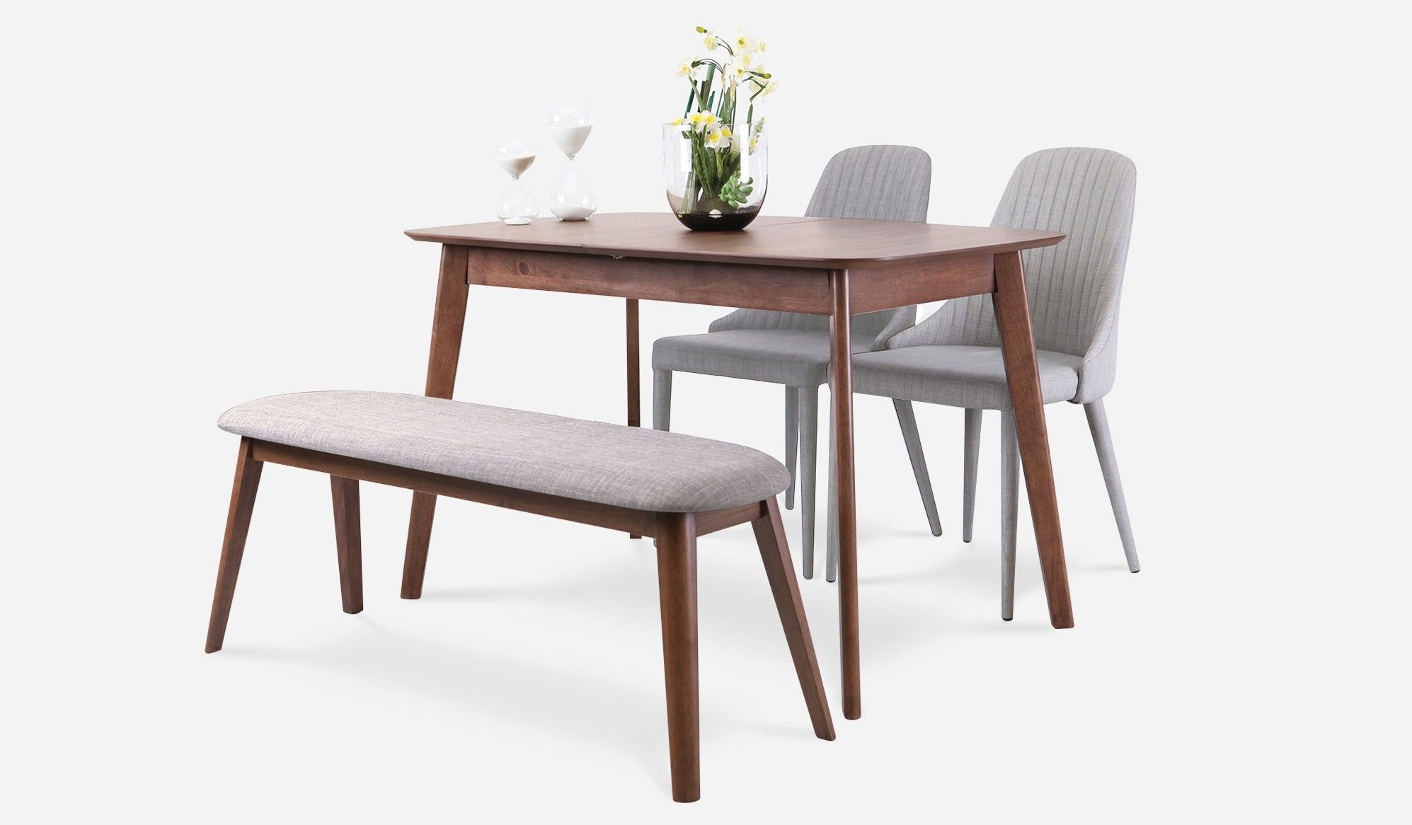 Short Side Flush To Wall Dining Table Set
