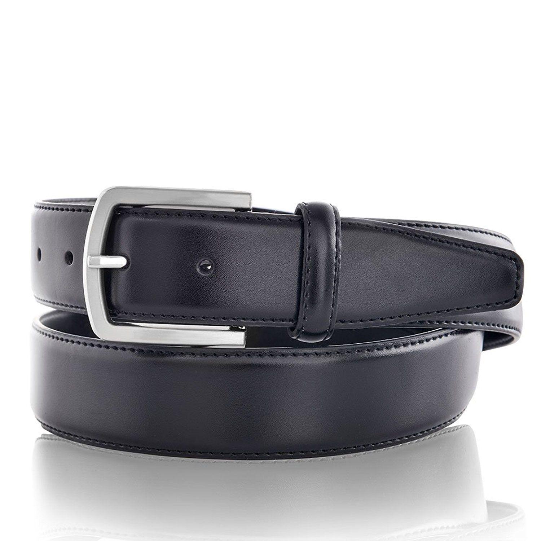 a251211bdec hombres Cuero cinturón de correa libre de níquel  Amazon.es  Ropa y  accesorios
