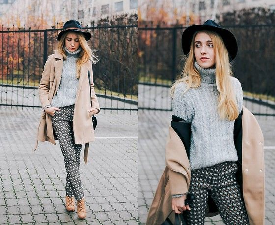 Get this look: http://lb.nu/look/7920024  More looks by Anna Pogribnyak: http://lb.nu/annapogribnyak  Items in this look:  Romwe Coat, Romwe Sweater, Alysi Pants, Vagabond Boots, Accessorize Hat   #casual #chic #classic #streetstyle #kiev #ukraine #alysi