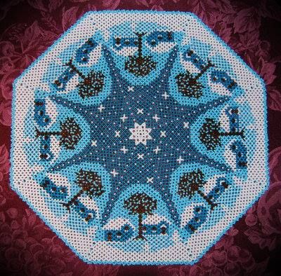 Nordic Winter. Glass Table Mat