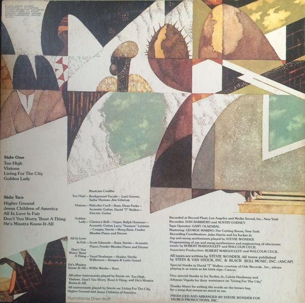 Stevie Wonder - Innervisions (Vinyl, LP, Album) at Discogs