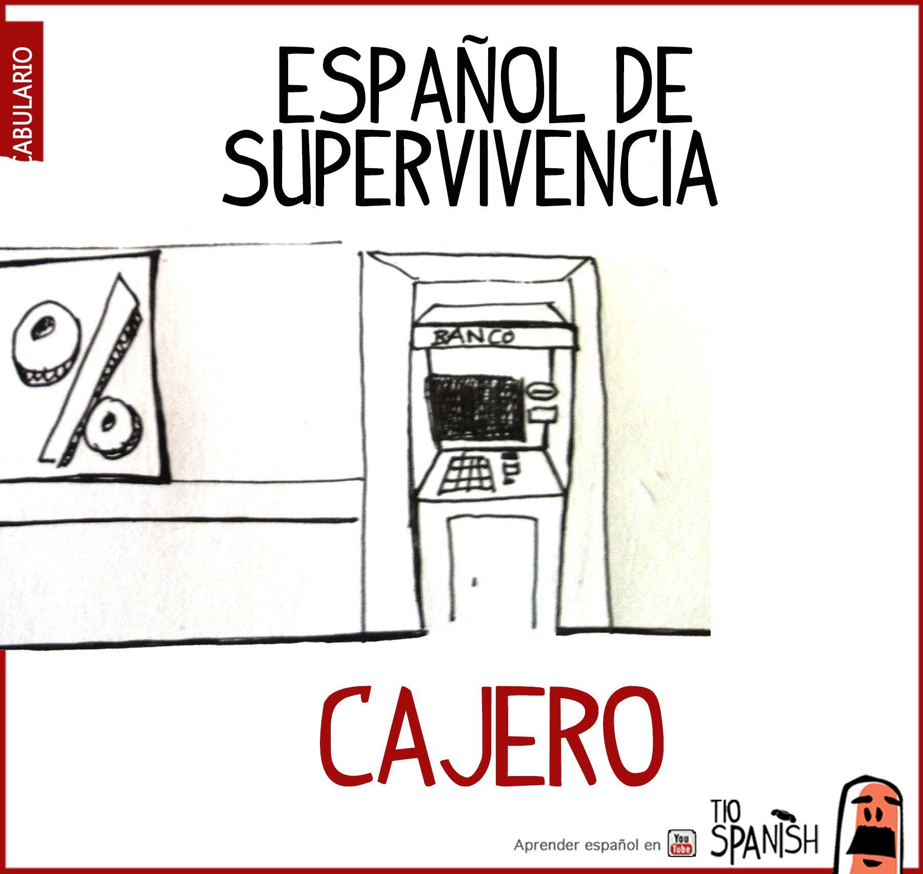 Cajero automático -- Vocabulario básico español | clases de español ...