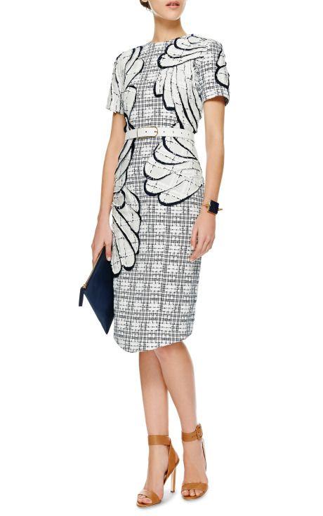 Embroidered Tweed Dress by Thom Browne - Moda Operandi
