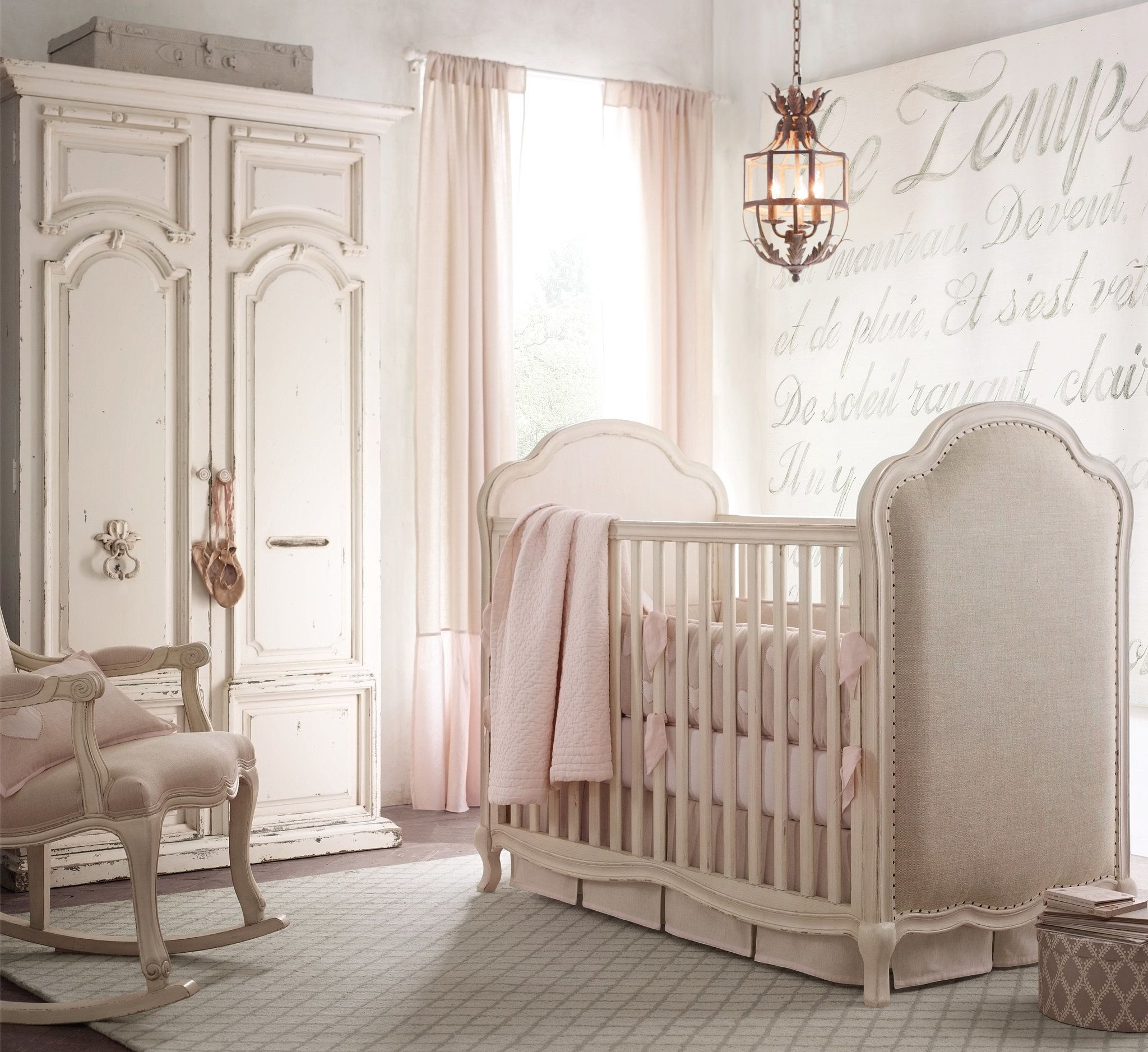 Rh Baby Child S French Script Grand Wall Canvas Tapestry 599 Is At Once Eye Catching And Eclectic
