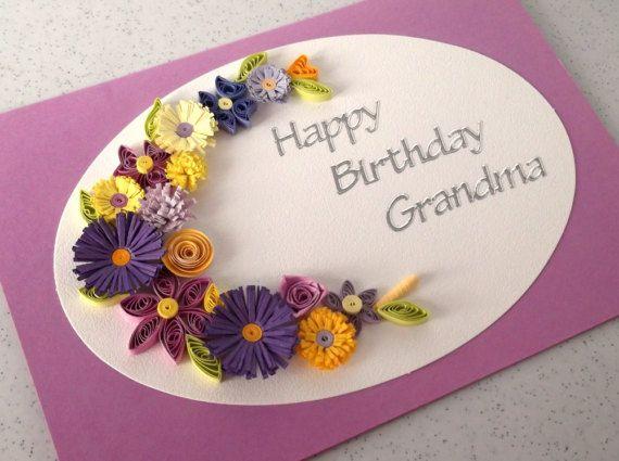 Alles Gute Zum Geburtstag Oma Karte Handgemacht Quilled Alles