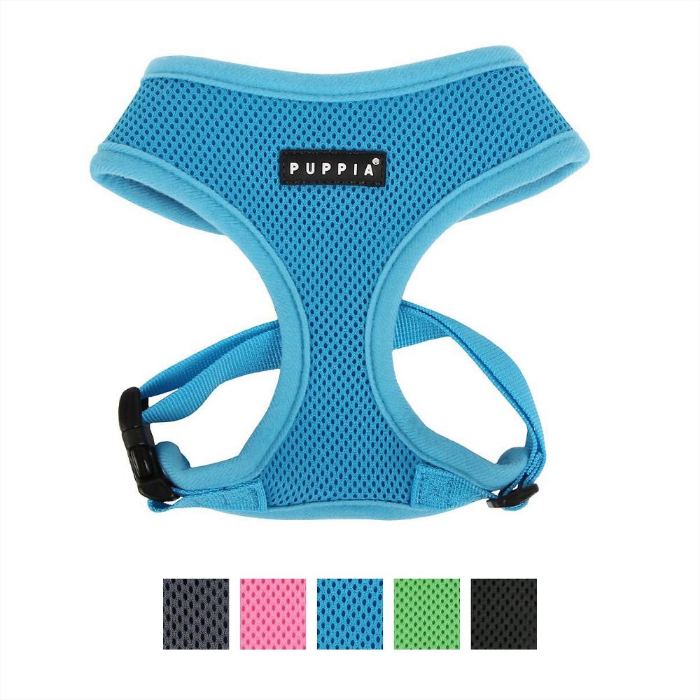 Puppia Soft Dog Harness, Sky Blue, Medium