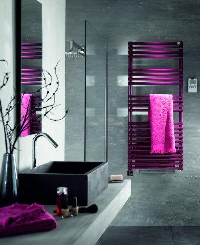 Salle de bain grise et fushia | salle de bain etage | Pinterest ...