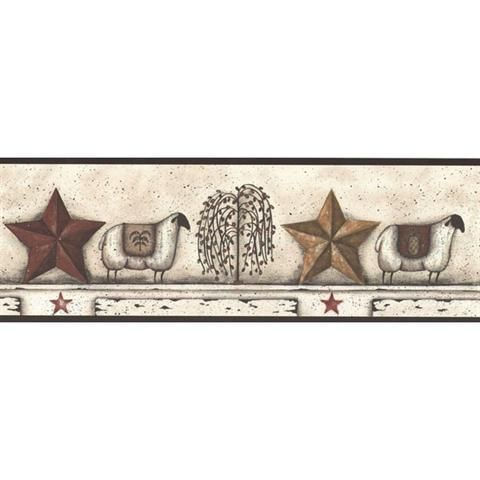 4511796 Country Shelf, Decorative Border Star