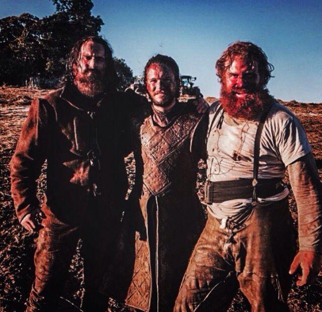 Game Of Thrones Dean S Jagger Kit Harington And Kristofer Hivju On